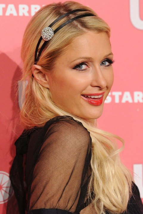 Paris Hilton Hairstyles: Cute Straight Haircut with Headband