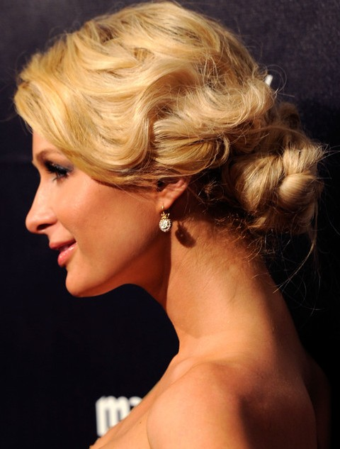Paris Hilton Hairstyles: Gogeous Retro Updo
