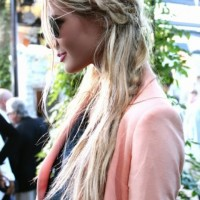 Paris Hilton Hairstyles: Messy Braided Hairstyle