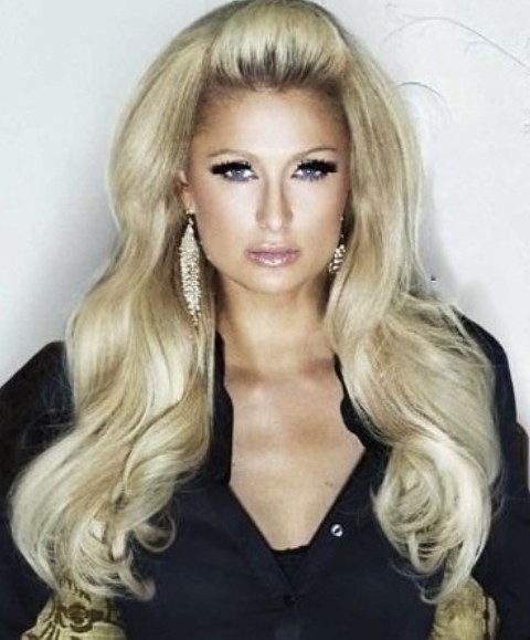 Paris Hilton Hairstyles: Queen-look Voluminous Loose Curls