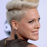 Pink's Signature Pompadour Hairstyle