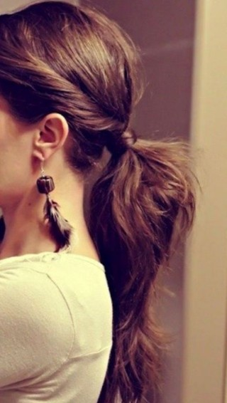 Twisted Ponytail Updo Hairstyle for Work