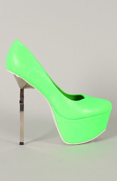 Privileged Mystery Neon Metallic Cross Platform Pump
