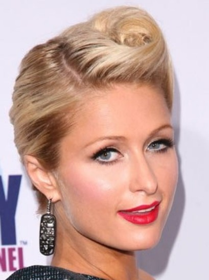 Quiff Hairstyles   Elegant Updo For Short Hair