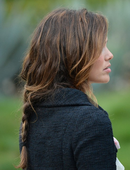 Rachel Bilson Long Hairstyles: Casual Loose Braid