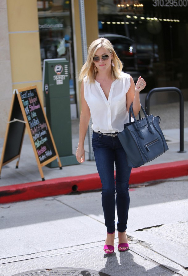Reese Witherspoon Crisp White Button Down Shirt