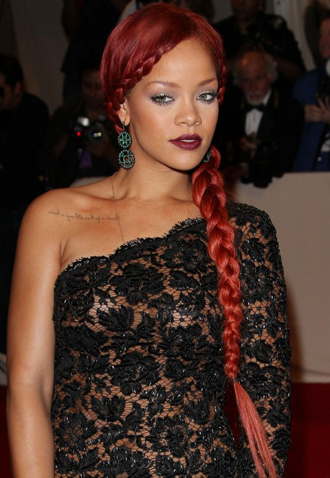 Rihanna Hairstyles: Amazing Braided Hairstyle for Party