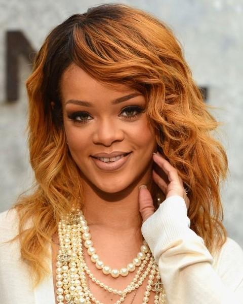 Miraculous Rihanna Hairstyles Golden Medium Wavy Haircut Pretty Designs Short Hairstyles For Black Women Fulllsitofus