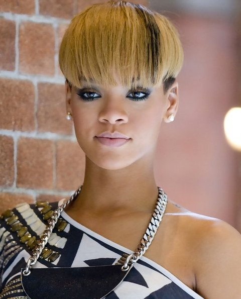 Rihanna Hairstyles the best rihanna haircuts images collection related to rihanna haircuts rihanna short haircut rihanna Rihanna Hairstyles Interesting Bowl Cut