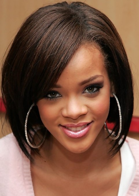 Rihanna Hairstyles rihanna short haircut red pixie for summer days Rihanna Hairstyles Sophisticated Medium Straight Haircut