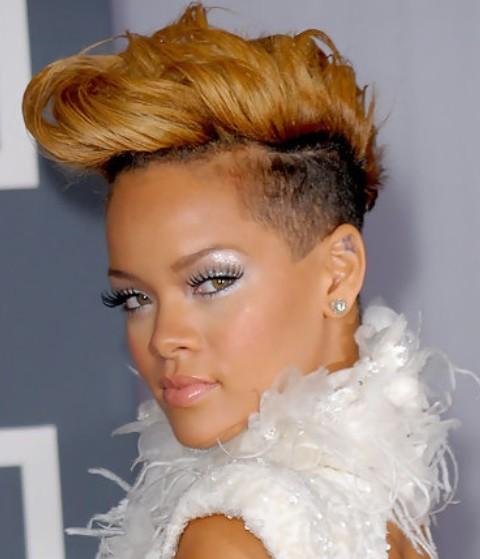 Rihanna Hairstyles: Stylish Fauxhawk for Fashionistas