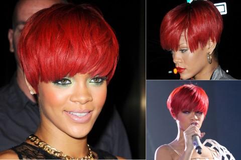 Rihanna-Short hairstyles