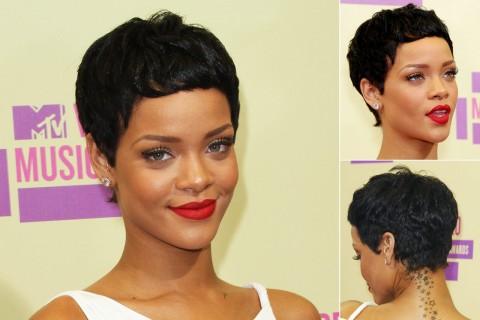 Rihanna's short hairstyles