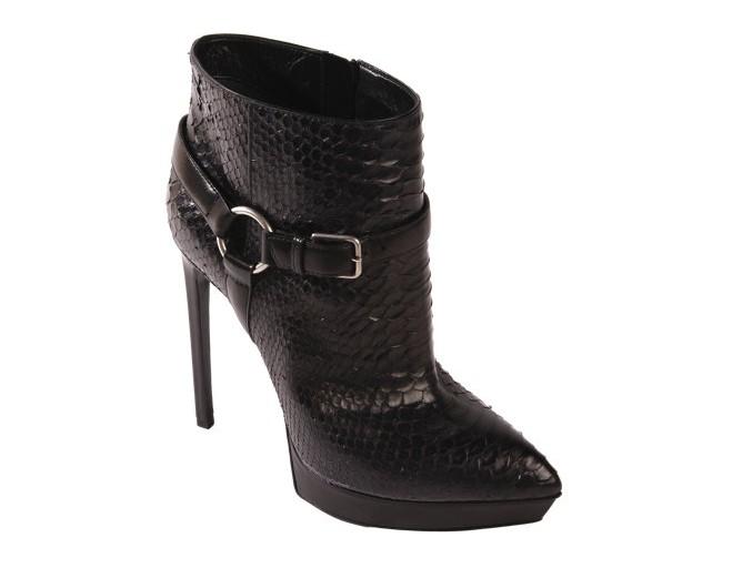 SAINT LAURENT Python Janis Ankle Boot