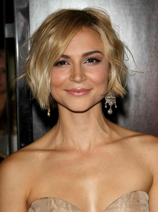 Samaire Armstrong's Short Haircut - Short Wavy Bob Hairstyle for Women