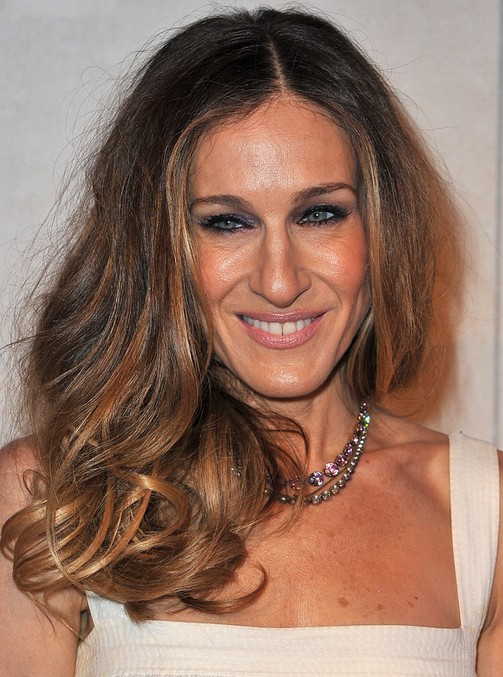 Sarah Jessica Parker Long Hairstyle: Big Curls for Party