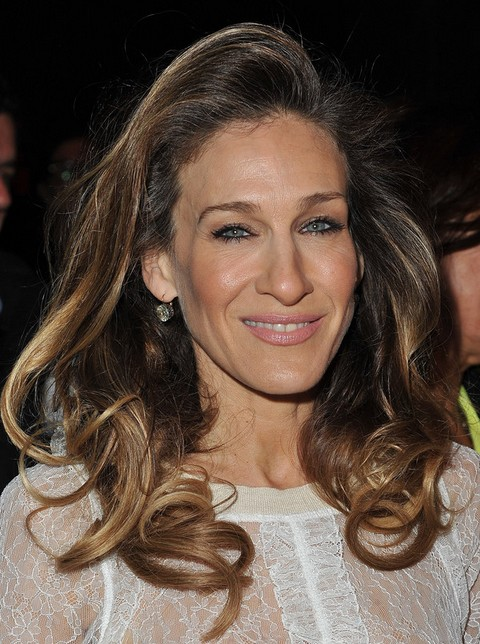 Sarah Jessica Parker Long Hairstyle: Haircut with Deep Side Parting