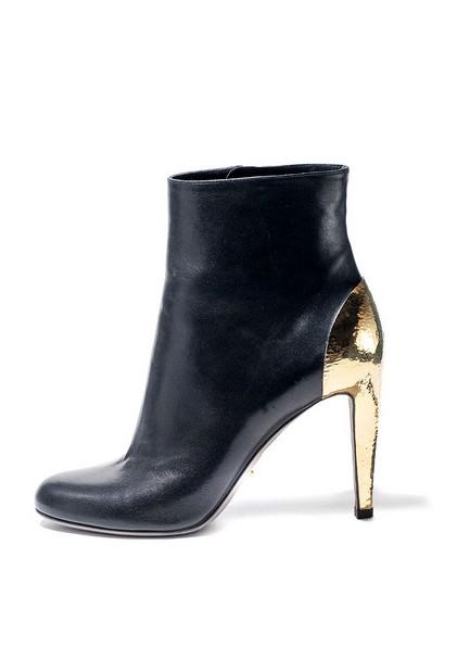 Sergio Rossi Black Gold Boots