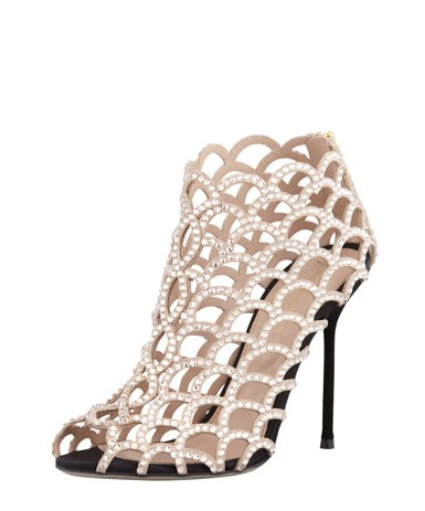 Sergio Rossi Caged Crystal Bootie
