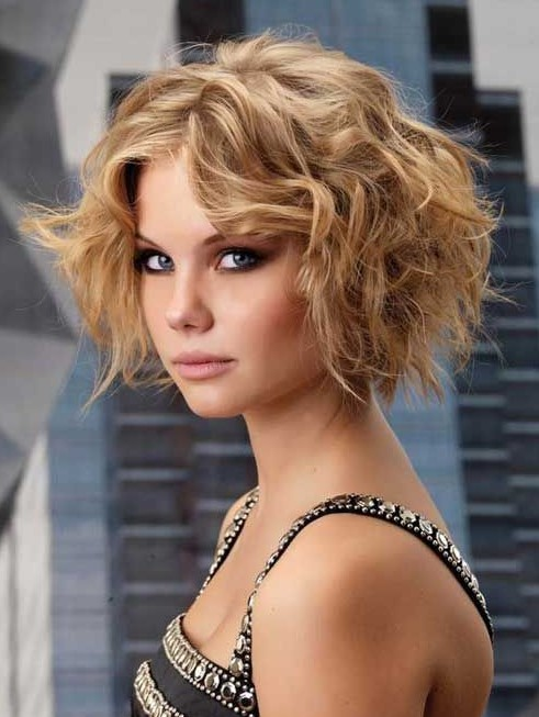 Sexy Short Bob Hairstyle with Curls 2015