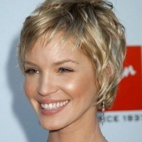 Short Blond Curly Hairstyle