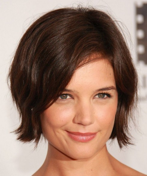 Short Bob Haircut with a Deep Side Part