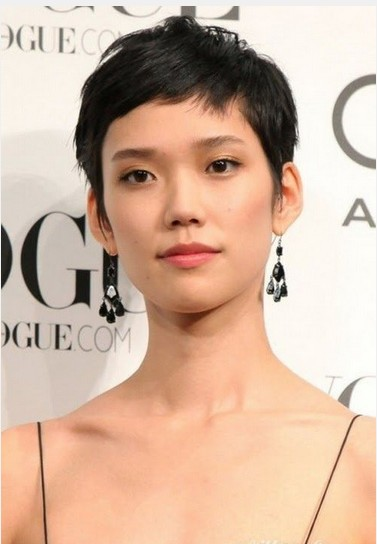Short Crop Hairstyle for Asian Women