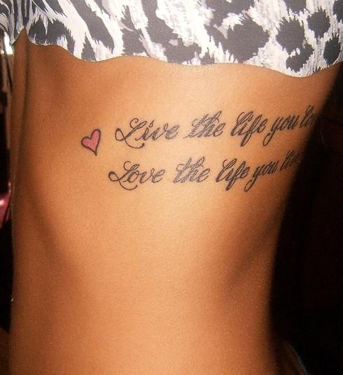 Showy Rib Tattoos For Girls
