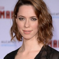 Side Parted Wavy Brunette Lob Hairstyle