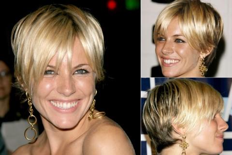 Sienna Miller's short hairstyles