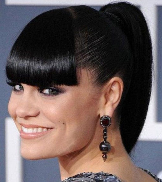 Ponytail Black hairstyles with bangs recommendations to wear in spring in 2019