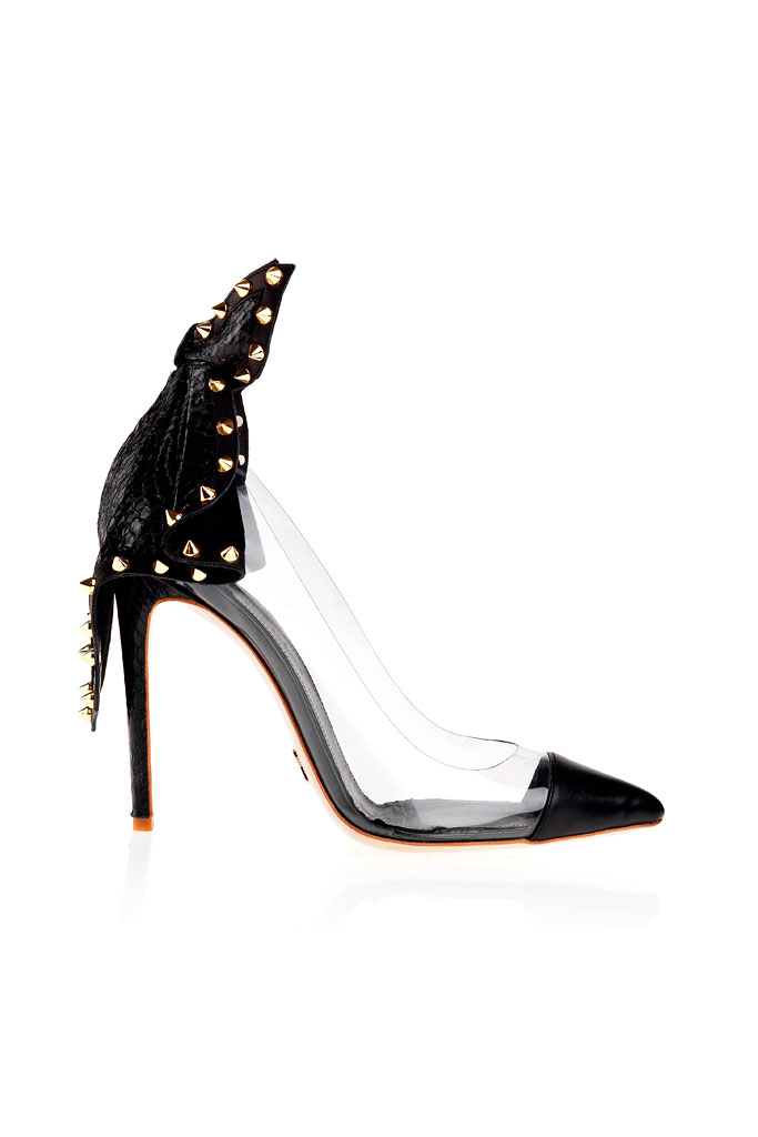 Spring 2014 Daniele Michetti Pumps,clear and black