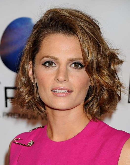 Stanakatic S Hairstyle Wavy Curly Brown Bob Hairstyle For