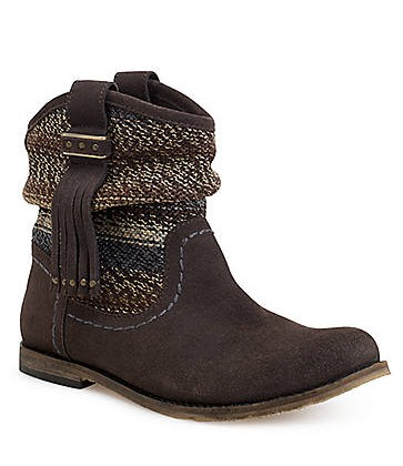 THE SAK Jezebelle Suede & Knit Boots