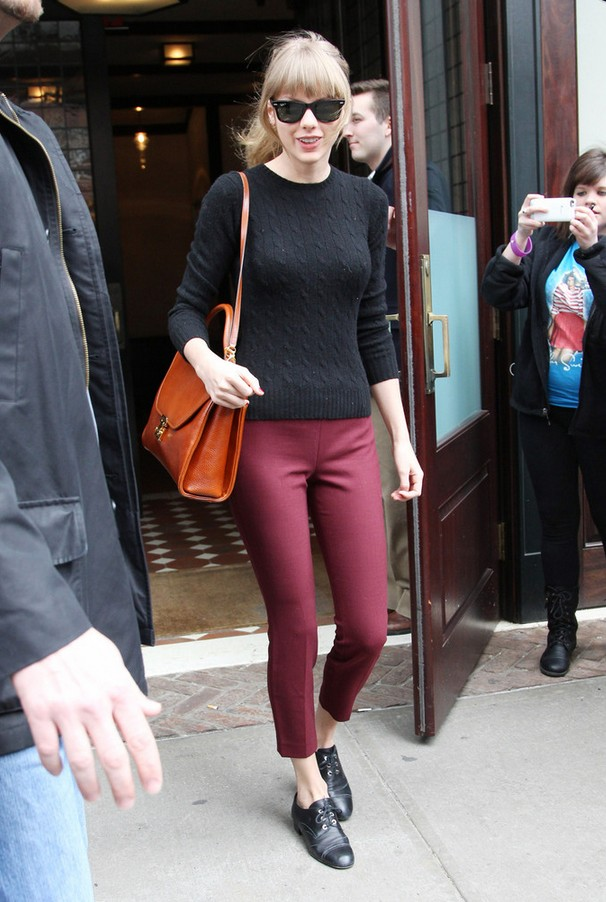 Taylor Swift Black Cable Knit Crewneck Sweater