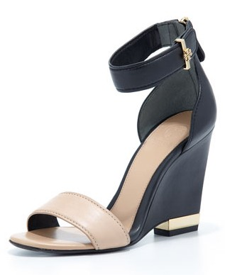 Tory Burch Carolyn Leather Wedge Sandal