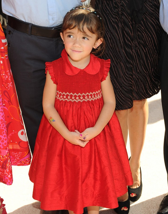 Valentina Paloma Pinault Pretty Red Baby Doll Dress