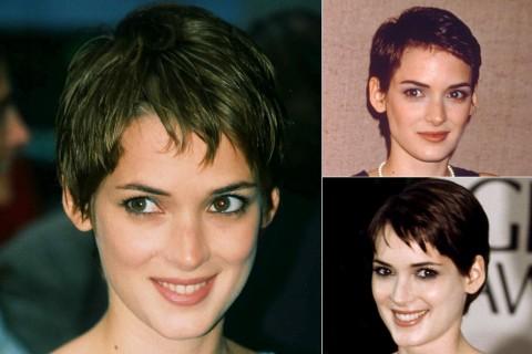Winona Ryder's short hairstyles