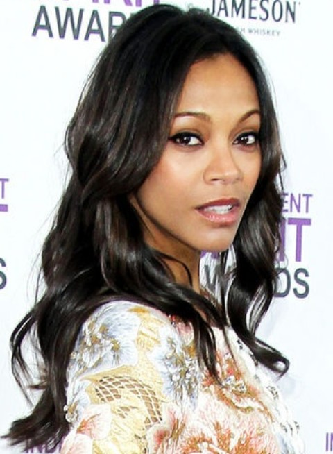 Zoe Saldana Hairstyles: Lovely Loose Curls