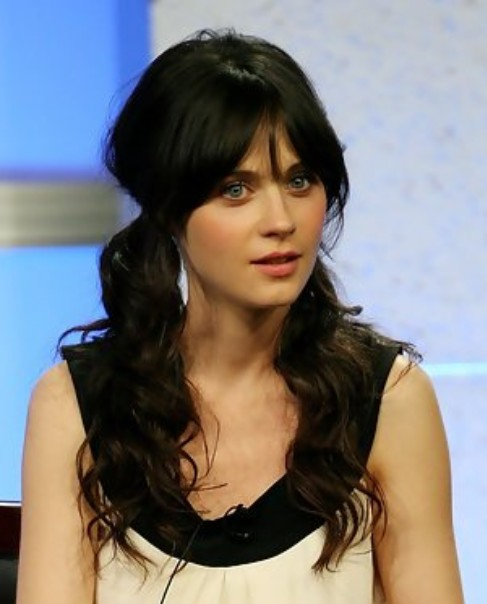 Zooey Deschanel Long Hairstyle  Lovely PonytailsZooey Deschanel Bangs Ponytail