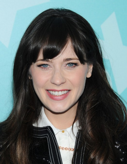 Black Hairstyles 2014 hairstyles for black flower girl Zooey Deschanel Long Hairstyles2014 Black Hair With Bangs