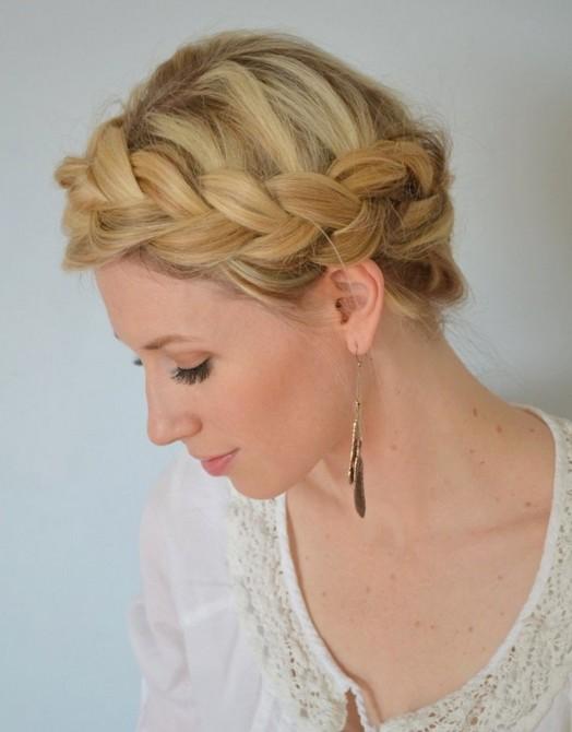 20 Braided Hairstyles Tutorials: Boho Crown Braid for Prom