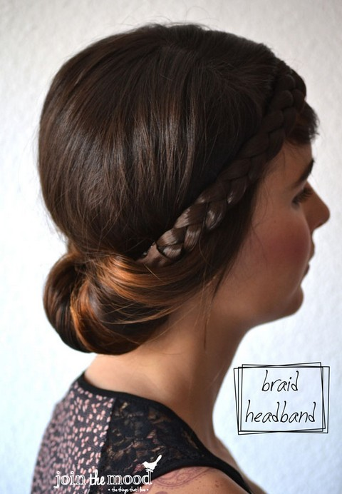 20 Braided Hairstyles Tutorials: Braid Headband