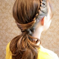 20 Braided Hairstyles Tutorials: Drag Braided Ponytail for Everyday