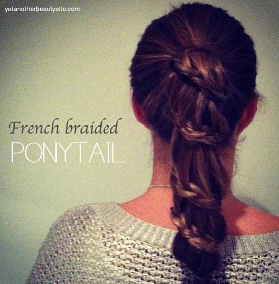 20 Braided Hairstyles Tutorials: French Braided Ponytail