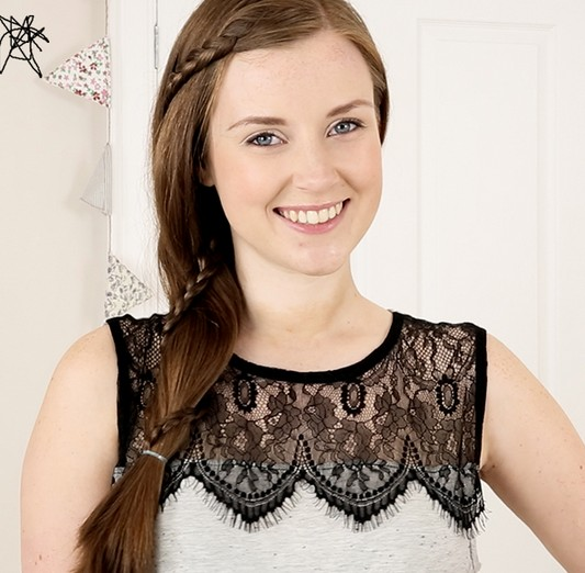 20 Braided Hairstyles Tutorials: How to Create a Simple Lace Braid