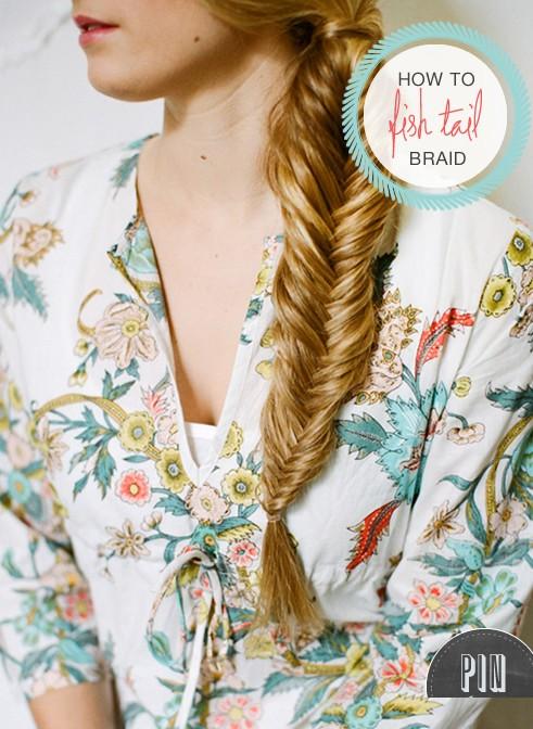 20 Braided Hairstyles Tutorials: How to fishtail braid