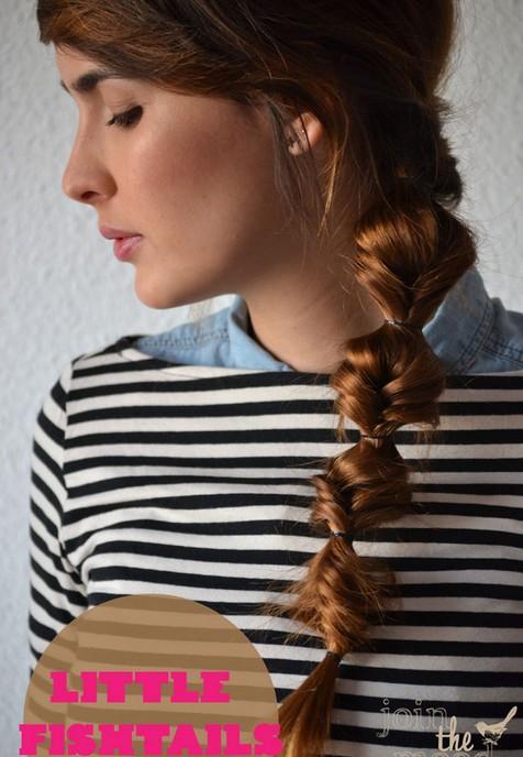 20 Braided Hairstyles Tutorials: Little Fishtails