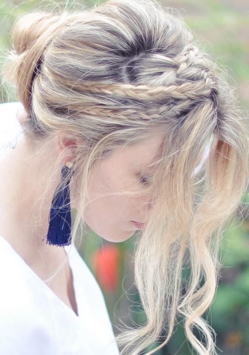 20 Braided Hairstyles Tutorials: Messy Rope Braids and Low Bun