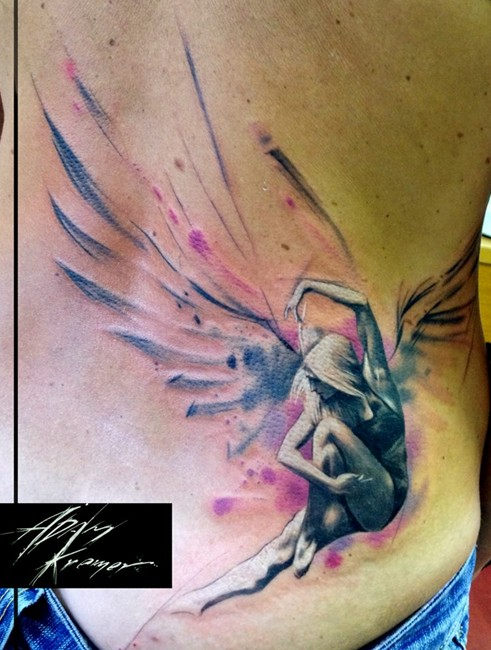 angel tattoo for girls - photo #5